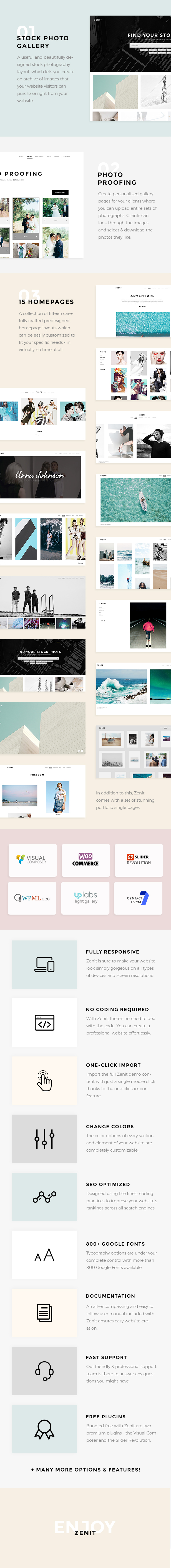 WordPress theme Zenit - A Crisp and Clean Photography Theme (Photography)